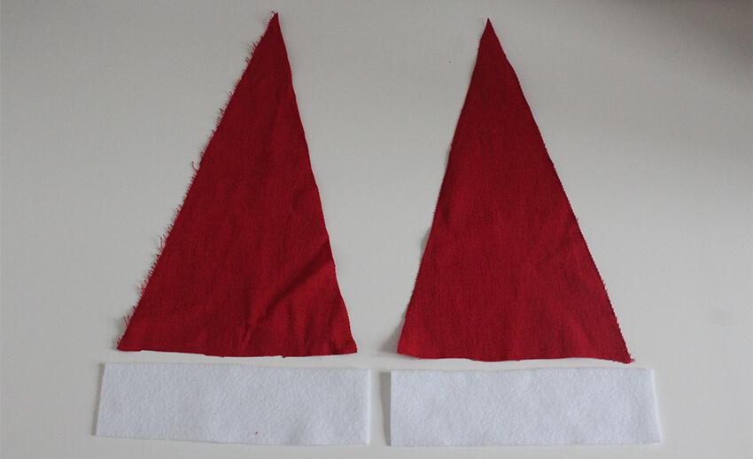 DIY fabric santa advent calendar - tutorial 6.1