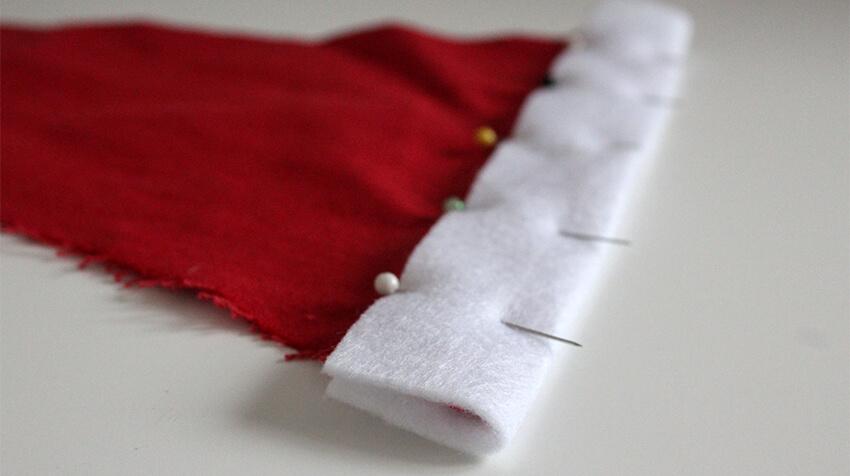DIY fabric santa advent calendar - tutorial 6.2