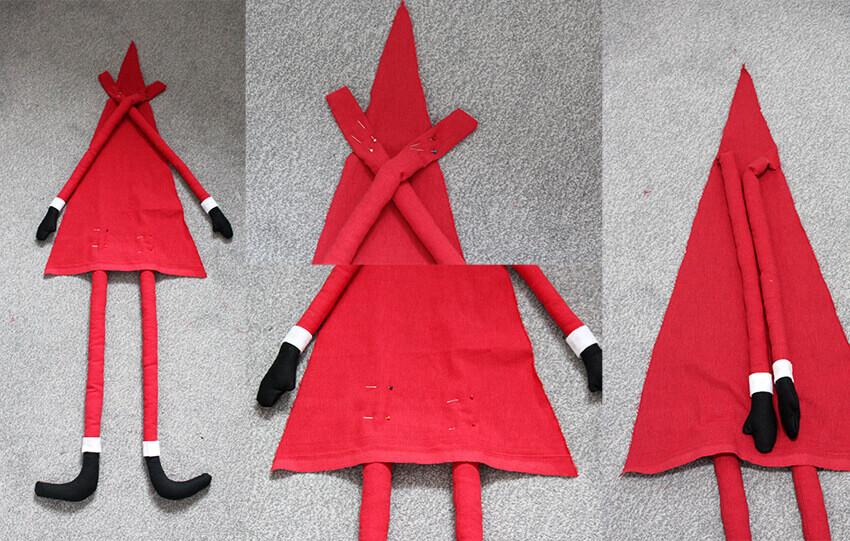 DIY fabric santa advent calendar - tutorial 7.1