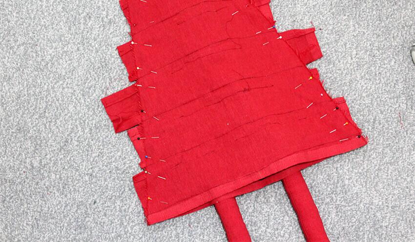 DIY fabric santa advent calendar - tutorial 7.2