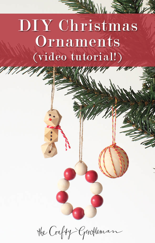 Easy DIY Christmas decorations with wooden beads - Click for more