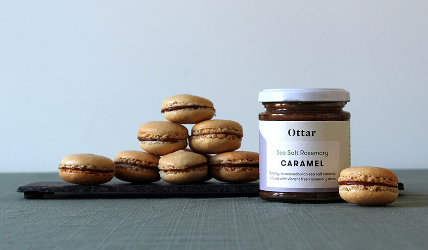 Rosemary, fennel and sea salt macaron recipes with Ottar chocolate