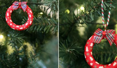Mini Christmas wreath decoration DIY