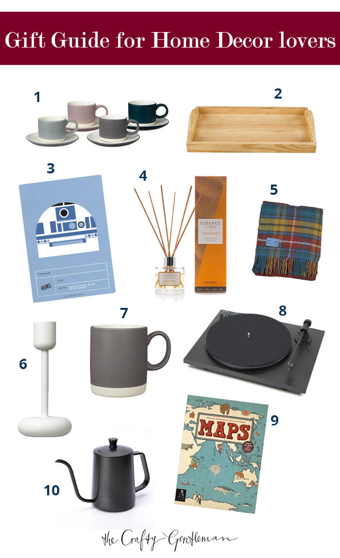 Christmas gift guide for home decor lovers 2017