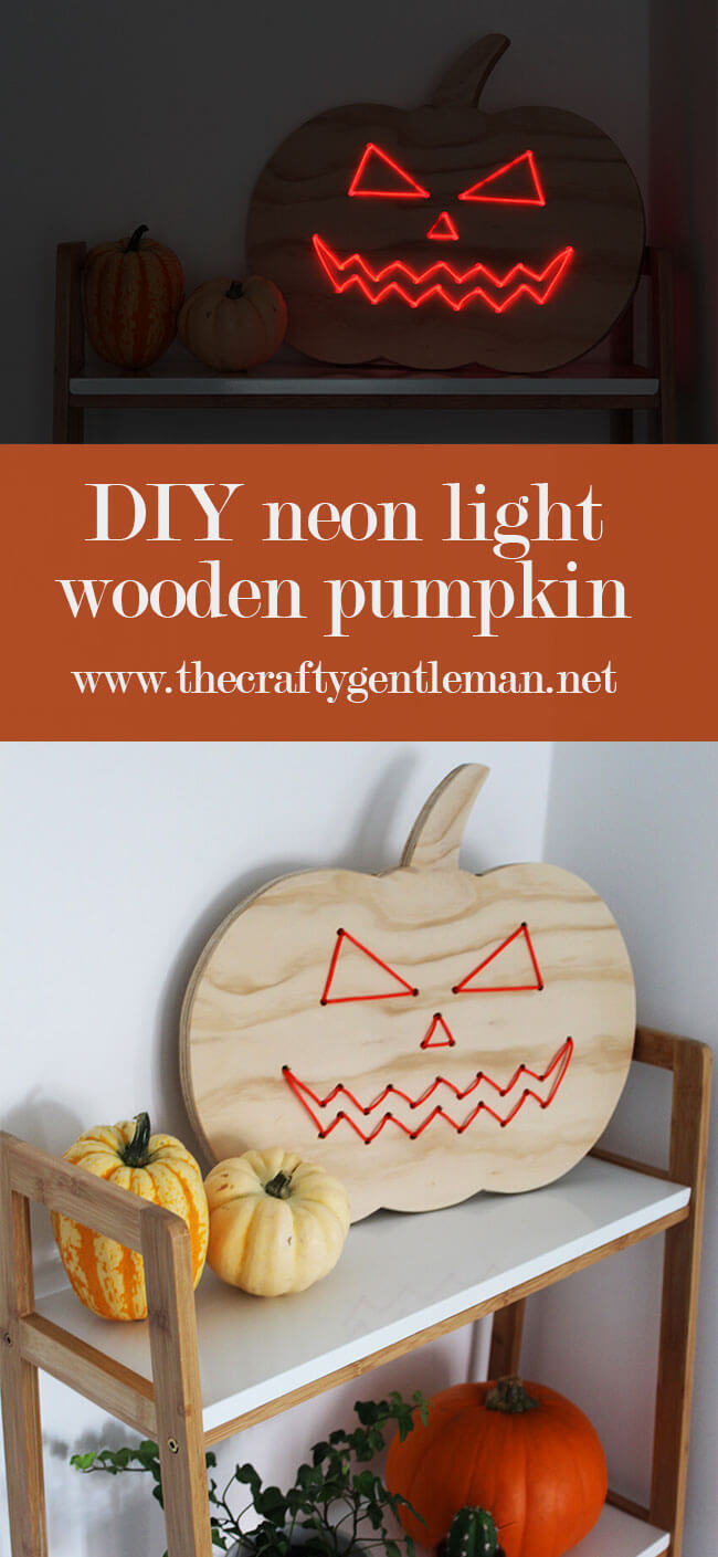 Add a touch of spooky sophistication to your Halloween decor with a neon light up pumpkin. Click through to see how to make your own.
