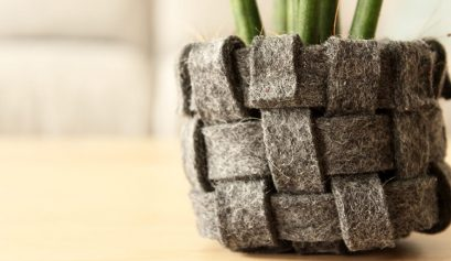 DIY woven felt planter tutorial