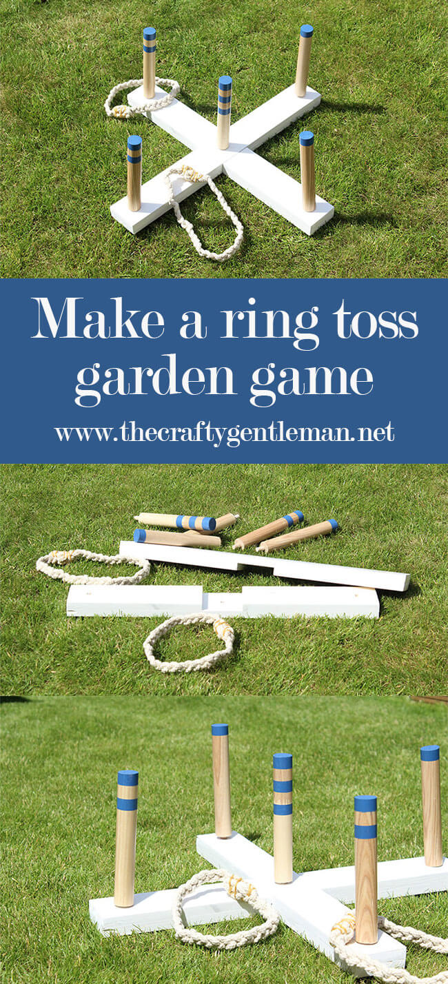 Learn how to make a DIY ring toss garden game for the summer