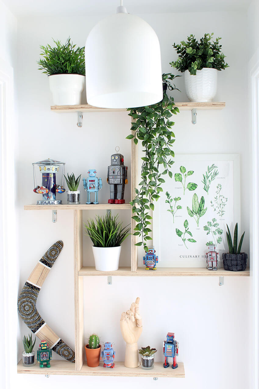 Learn how to make custom plywood shelves to fit in any space - Full step-by-step tutorial with tips - Click through for this and more DIY woodwork projects