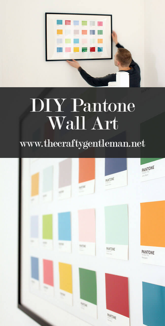 Learn how to make your own Pantone chip wall art, for a highly impactful piece of home decor. Click through for the video tutorial