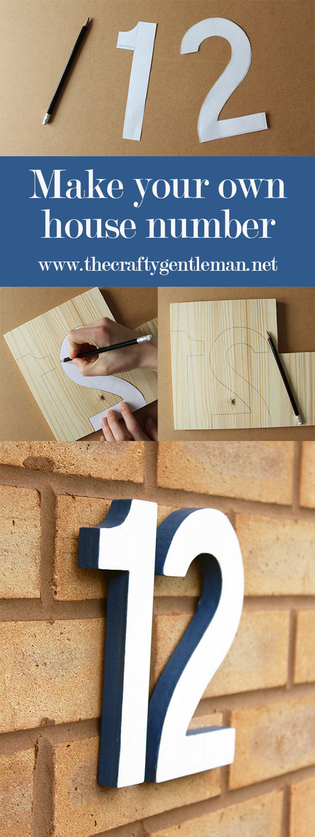 Learn how to make your own house number sign in this step by step tutorial. No complex skills or equipment required! Click through for more