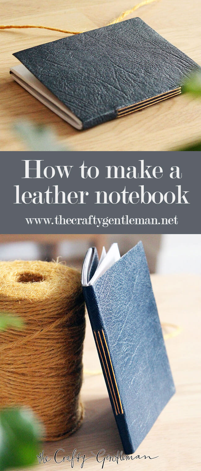 Learn how to make your own leather bound journal notebook in this easy DIY tutorial.