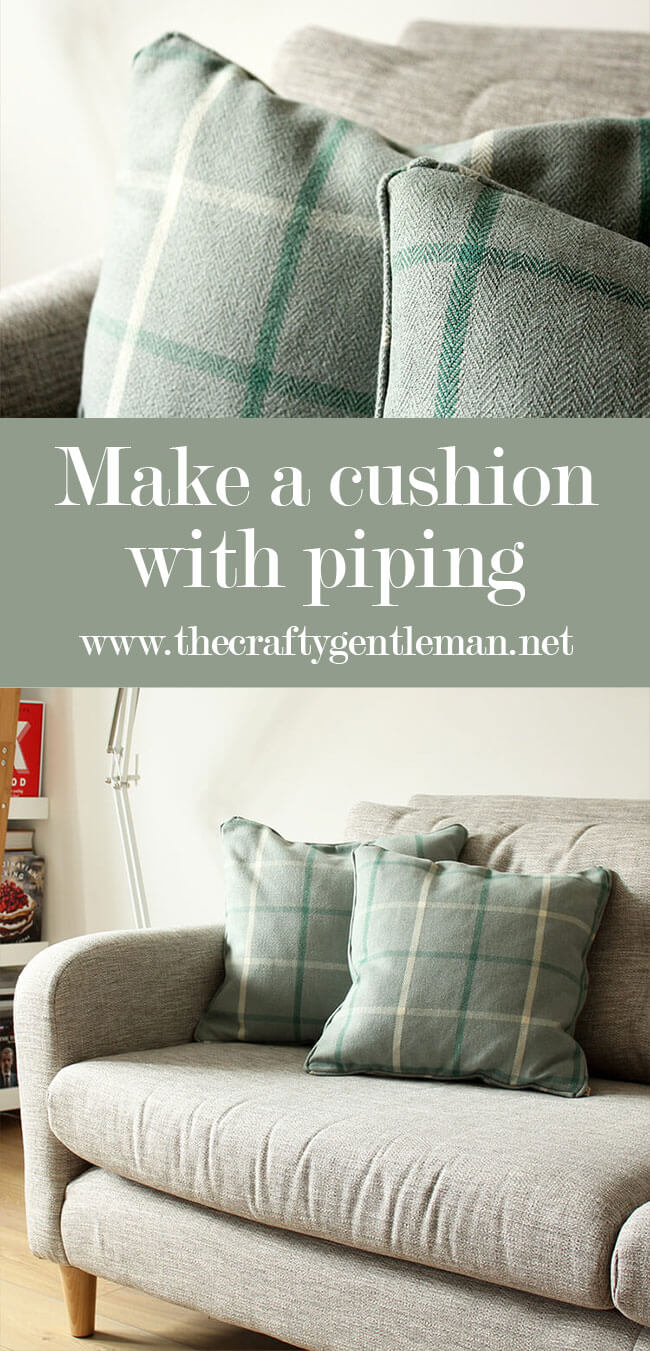 Learn how to sew a cushion cover with piping detail. This simple addition makes it look so professional! Click through for the full tutorial.