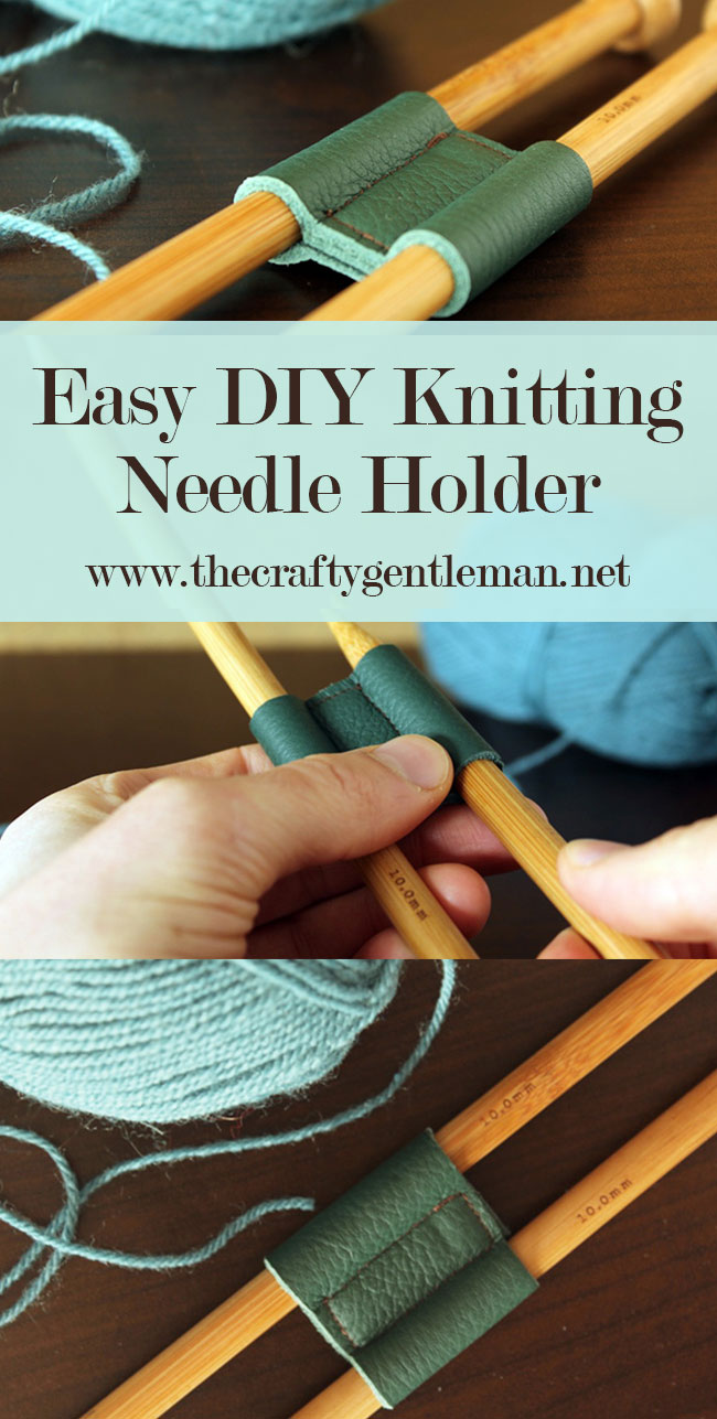 This DIY Knitting Needle holder is really easy to make, but it's so useful. Click through for this and more craft projects to try