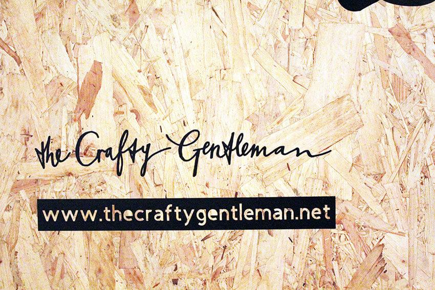 Nottingham Light Night - The Crafty Gentleman installation at Handmade Nottingham