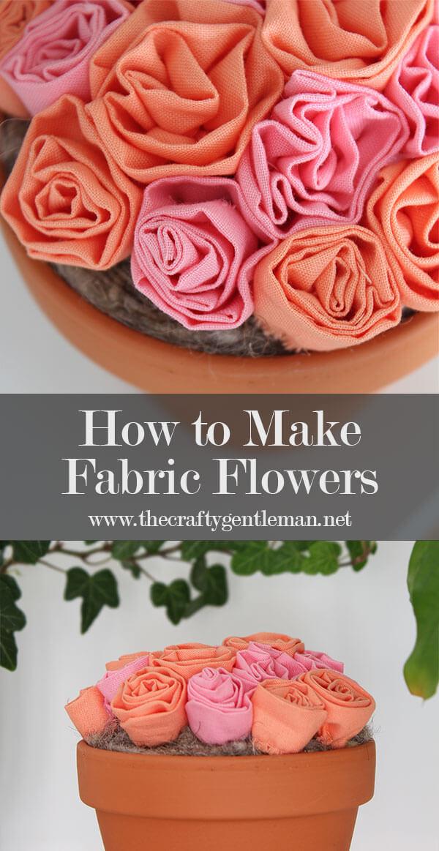 How To Make Diy Fabric Flowers Cricut Maker Crafts Craft Blog