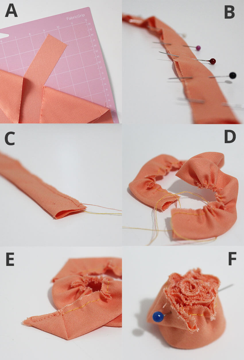 How to make DIY Fabric Flowers with Cricut Maker - Tutorial Steps