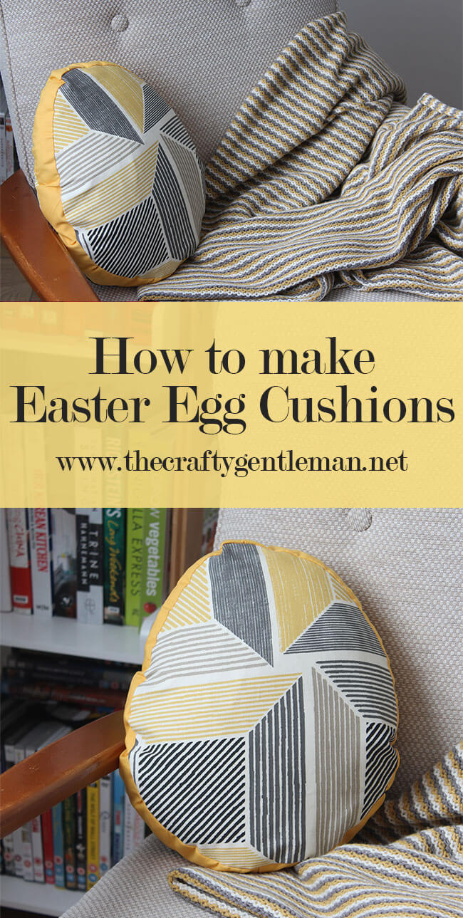 How to make round Easter Egg cushions. Click the through for full tutorial and more Easter craft projects.