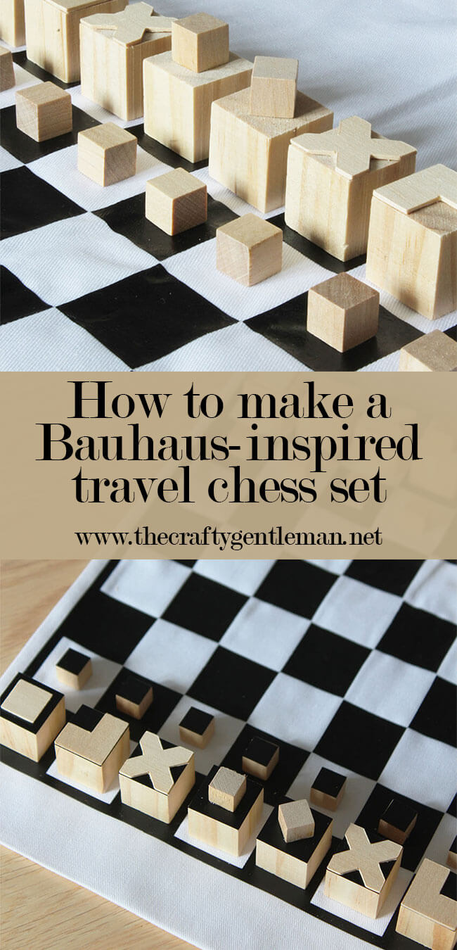 Bauhaus Inspired Diy Travel Chess Set Cricut Maker Diy
