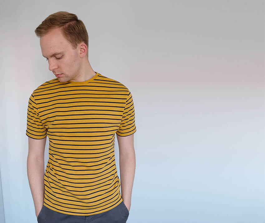 Free tutorial for how to make a mens T-Shirt from scratch - click through for more - tutorial by The Crafty Gentleman