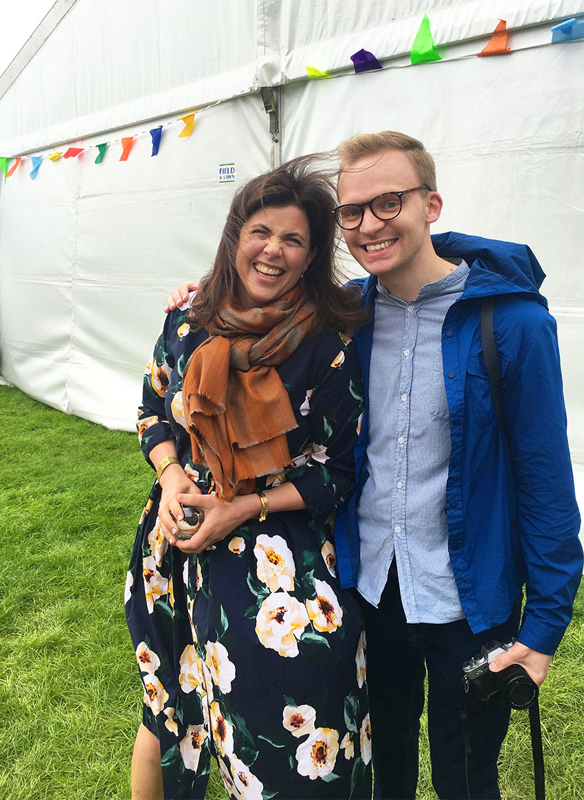 Mike Aspinall The Crafty Gentleman and Kirstie Allsopp at The Handmade Fair 2018