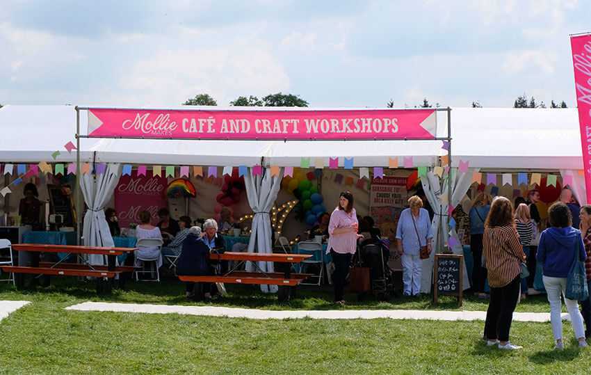 Kirstie Allsopp presents the Handmade Fair 2018 in Ragley Hall Warwickshire, one of the UKs biggest and best craft fairs