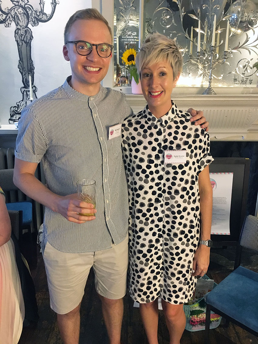 Yvette Streeter and The Crafty Gentleman Mike Aspinall at Mollie Makes Handmade Awards 2018