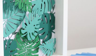 Tropical Garden 3D wall art DIY with Bostik