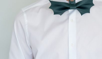 DIY leather Bat Bow Tie   Easy last minute Mens Halloween Costume   Halloween crafts   Click through for more