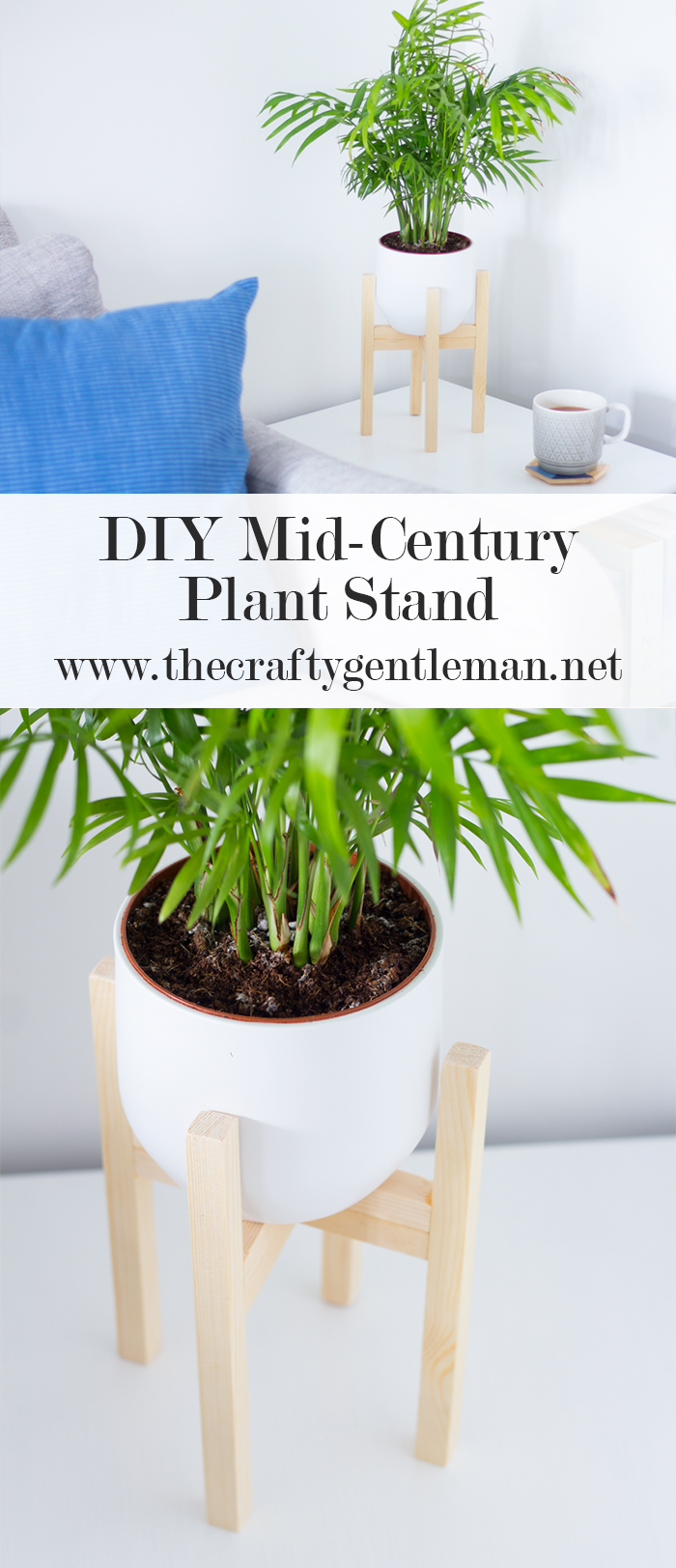 Diy Mid Century Plant Pot Easy Wood Crafts The Crafty Gentleman