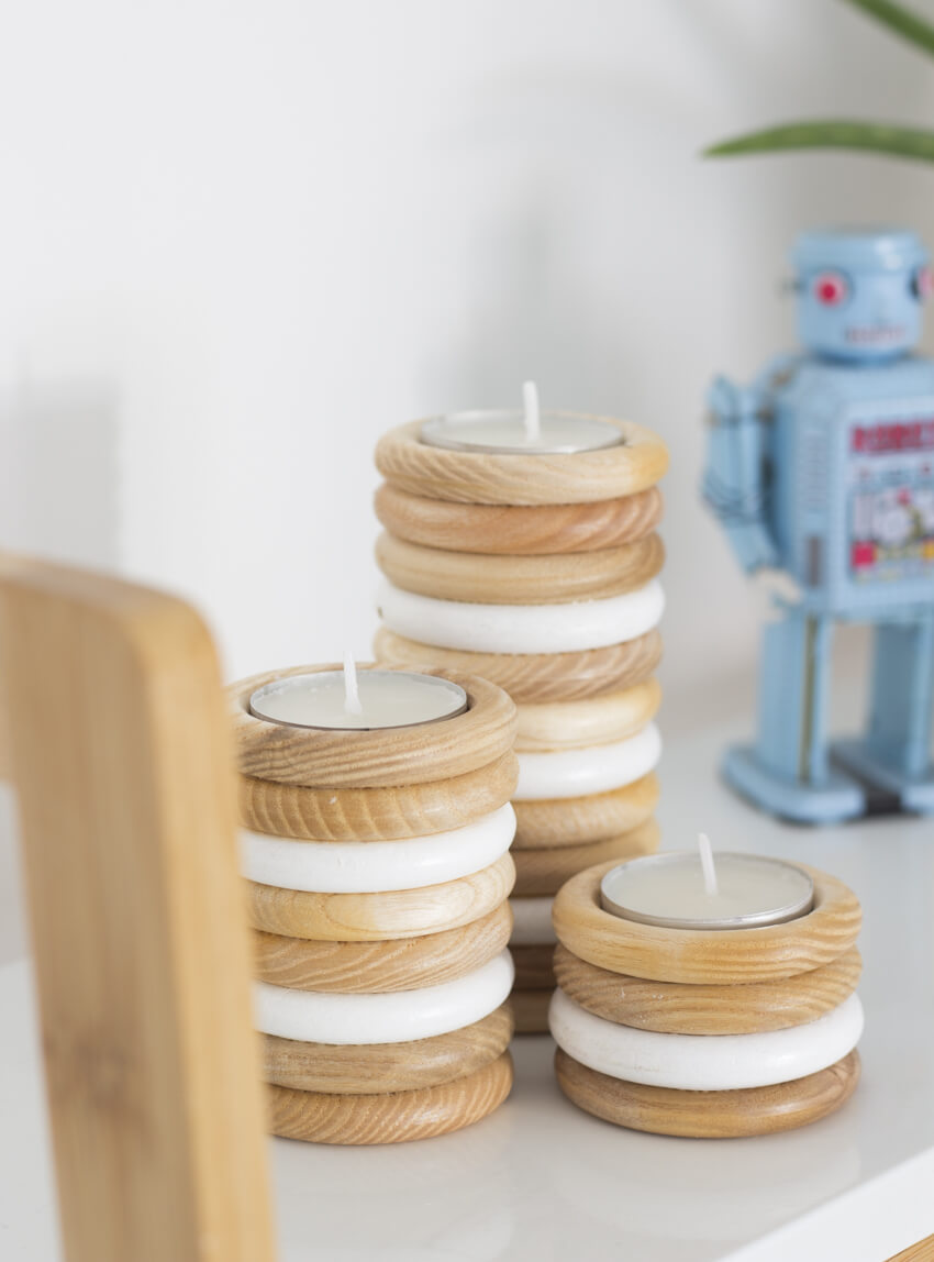 Diy Wooden Tealight Holders The Crafty Gentleman