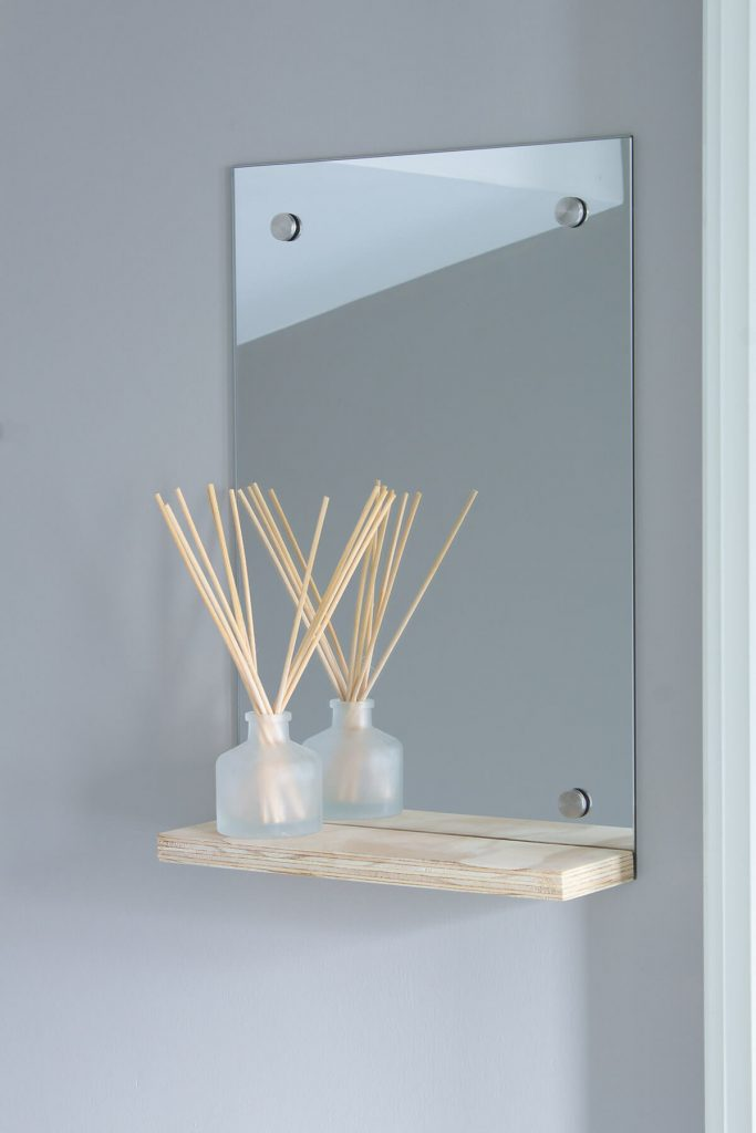How to make a DIY floating shelf mirror - Easy woodwork tutorials