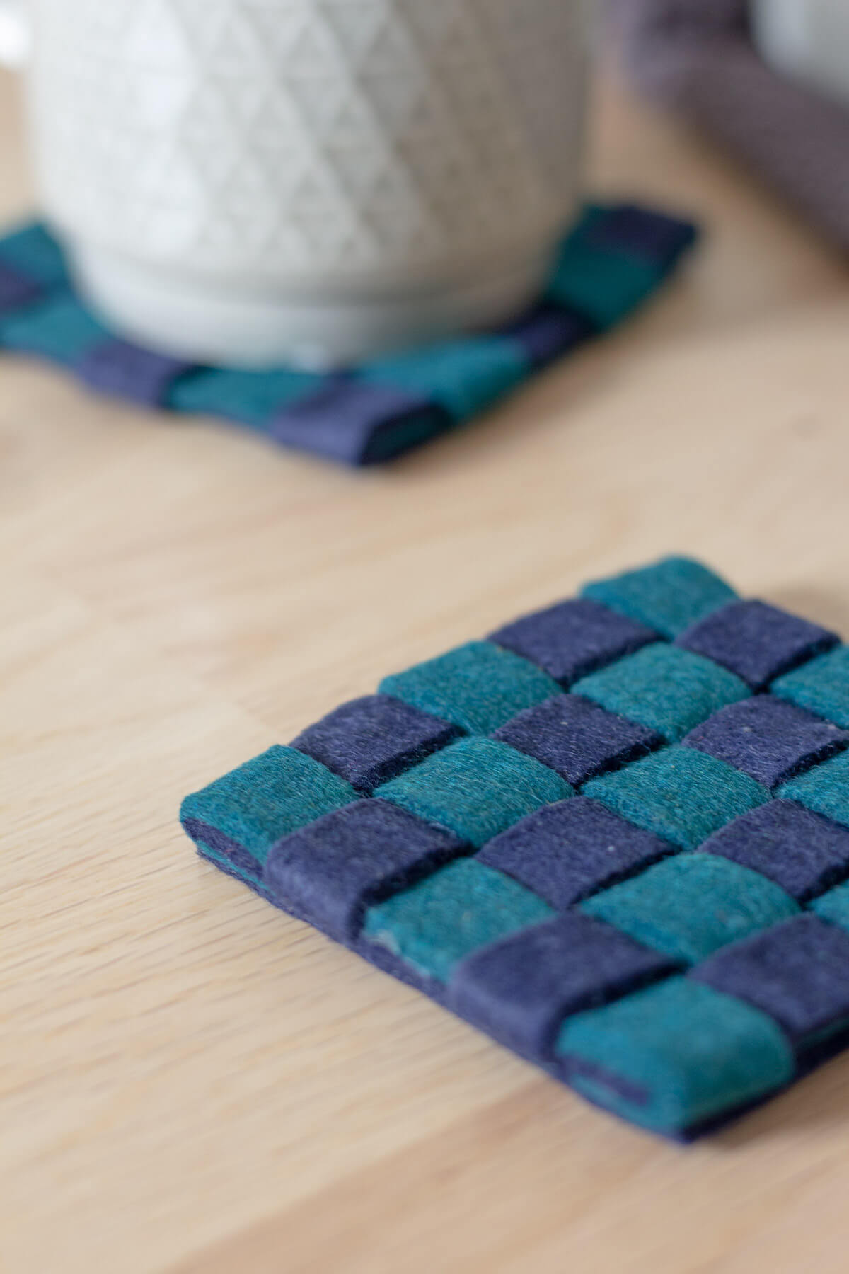 Diy Woven Felt Coasters The Crafty Gentleman